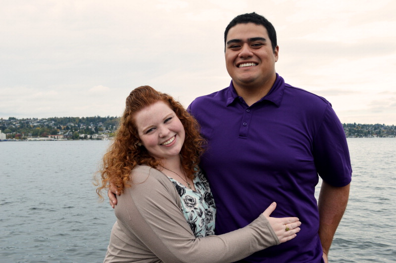 Elizabeth Thompson and Terry Areta
